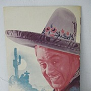 "Leo Carrillo ""The Bad Man"" Souvenir Program"