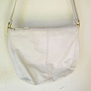 Ganson large White leather Hobo multiple compartments Shoulder Bag mint
