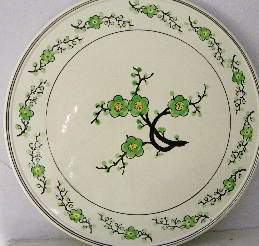 Hand painted porcelain cake plate Japan
