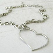 Open Heart Chain Necklace / Lobster Claw Clasp