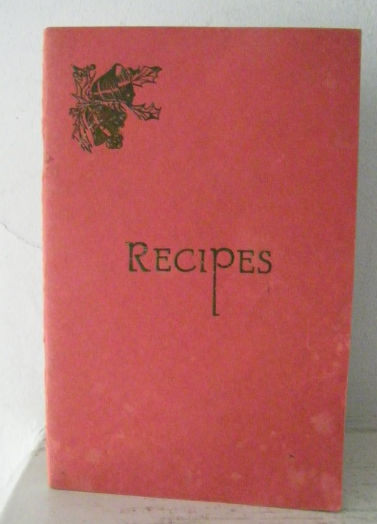Recipe Booklet Saint Barnabas Hospital Women's Auxiliary