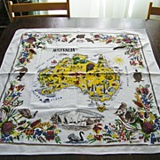 "Vintage Australian Tablecloth 31"" x 33"""