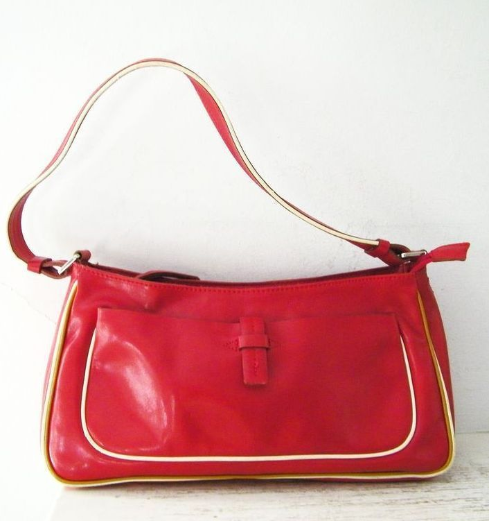 Francesco Biasia Italian Red Leather Handbag Italy