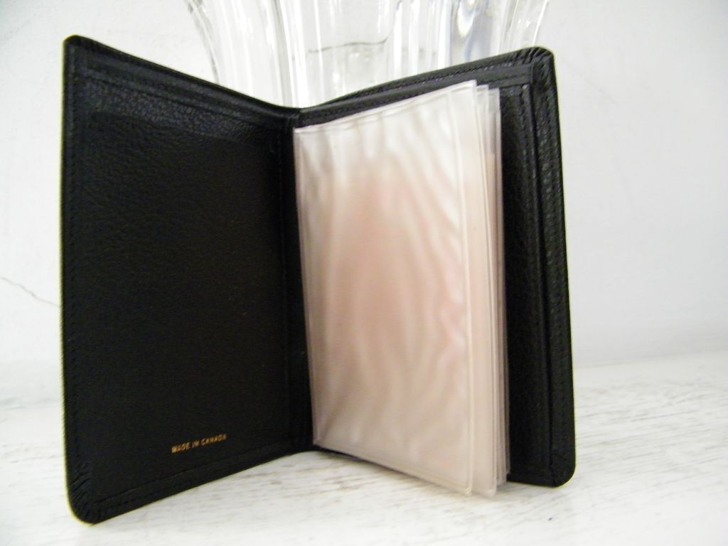 Black Leather Ambassador Men's Wallet Mint!