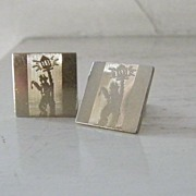 Swank Unusual Unique Cuff Links lamplighter