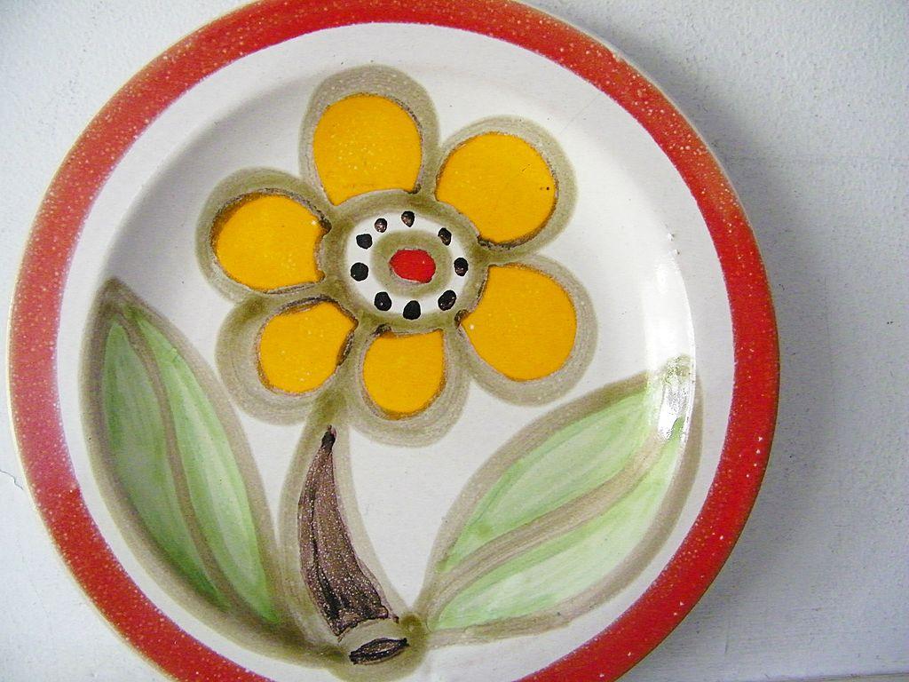 "Signed DeSimone Flower Plate 10"""