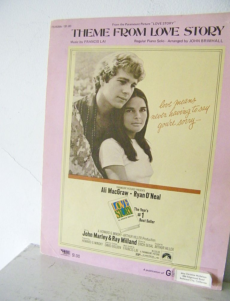 Theme From Love Story sheet music