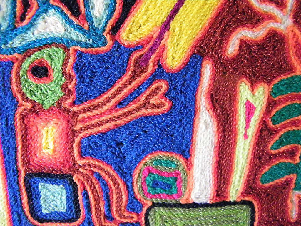 Design Yarn Art mexican huichol yarn painting folk art signed from kitchengarden roll over large image to magnify click zoom