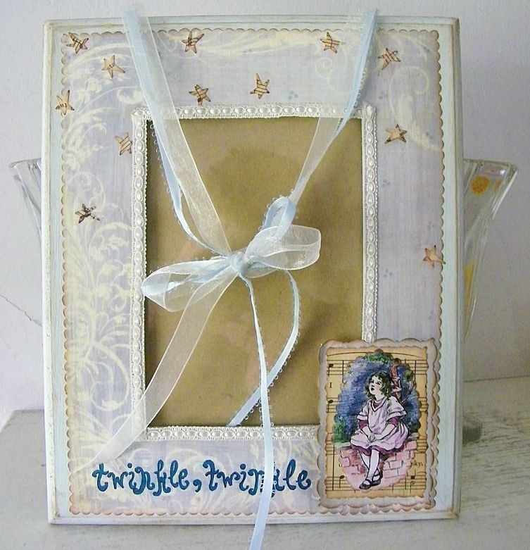 Pretty Blue Hand Crafted Frame Twinkle Twinkle Little Star