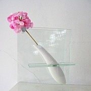 Porcelain & Glass Bud Vase Contemporary Modern