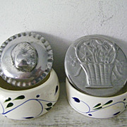 Two Signed BMT Mexican Pewter Trinket boxes
