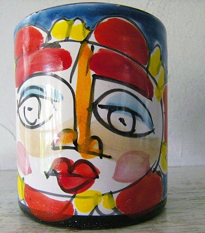 Italian Hand Painted Mug Circa 1960s