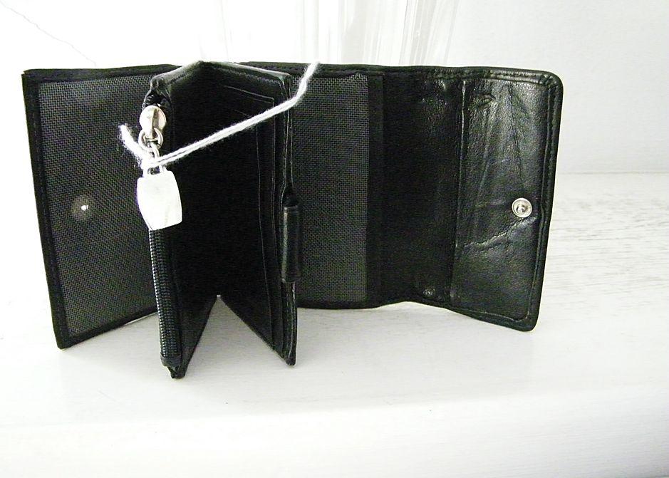 Garys USA Black Leather Mens Wallet  Coach Leather