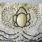 Moyna beaded Bridal Purse Evening Shoulder Bag Mint!