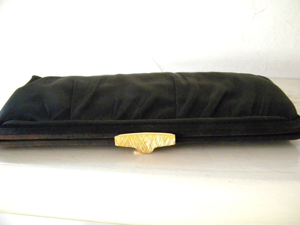 Black Faille Morris Moskowitz Clutch Handbag