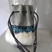 Leather & Fur Medicine Bag Southwest Style mint!