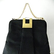 Black Wool Felt Handbag by G. D. K.