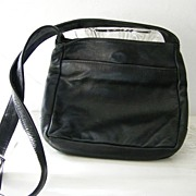 Libaire Black Leather  Hobo Shoulder Bag