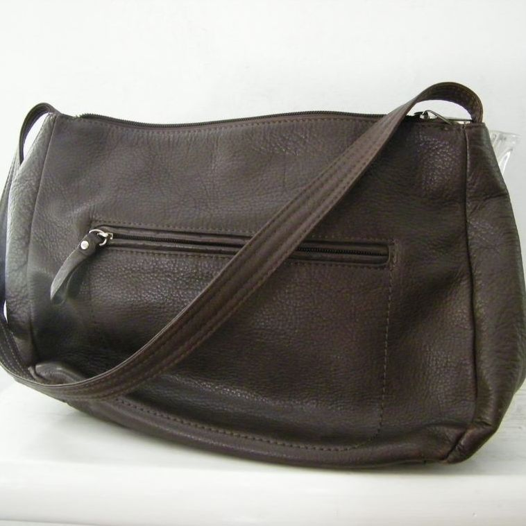 Giani Bernini Brown Pebbled Leather Shoulder Bag
