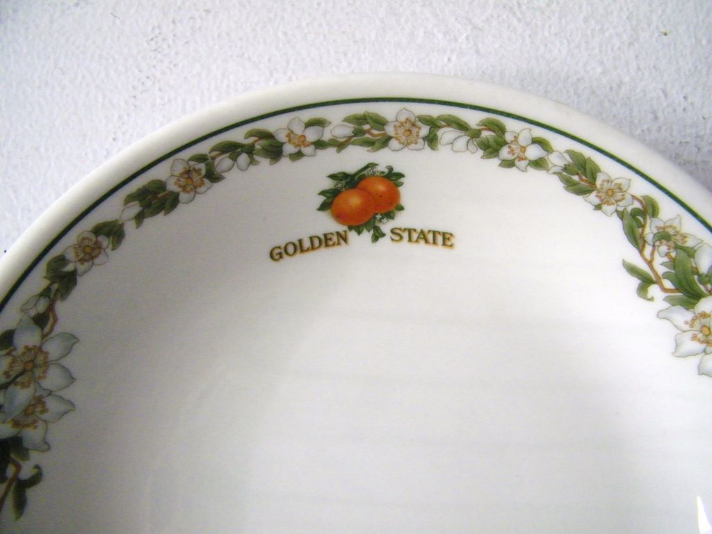 7 Vintage Southern Pacific Railroad China Golden State Bowls