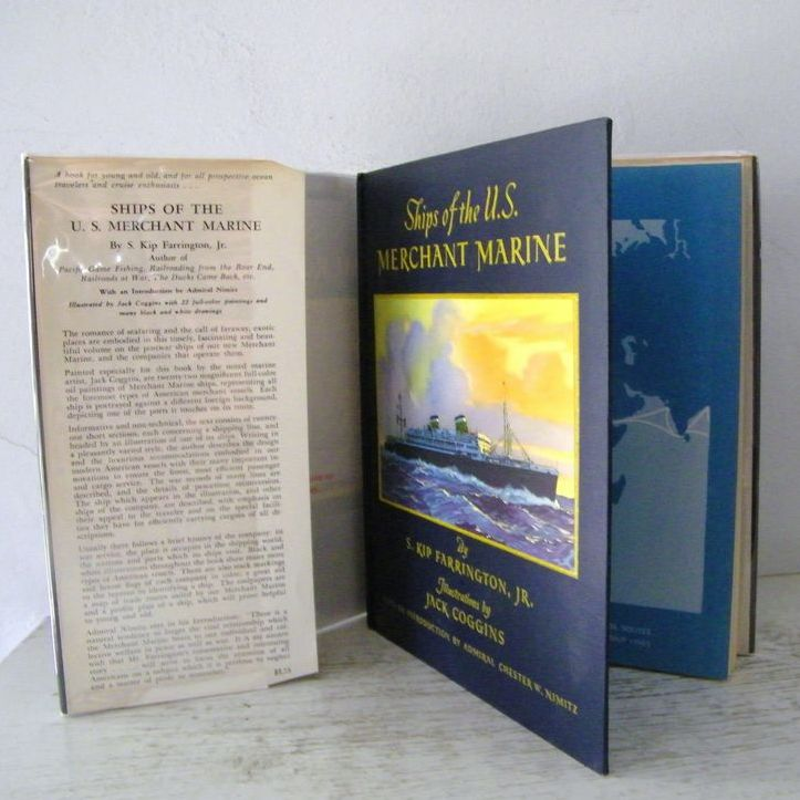 Ships of the U.S. Merchant Marine Signed 1st Edition