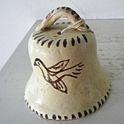 Unusual Tlaquepaque Mexican Pottery Bell