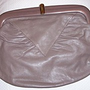 Large Italian Leather Clutch Purse Excellent Condition!