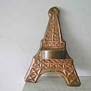 "Large 11"" Vintage Copper Eiffel Tower Cookie Cutter"