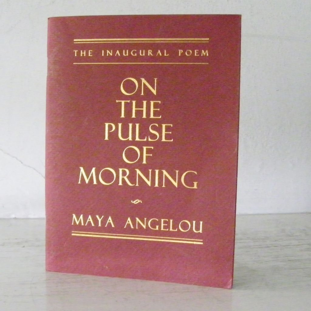 an analysis of personification in maya angelous on the pulse of morning On the pulse of morning by maya angelou a rock a river a tree hosts to species long since departed mark the mastodon the dinosaur who left dry tokens of their sojourn here on our planet.