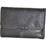 Black Leather Fossil Wallet Removable ID Credit Card Holder