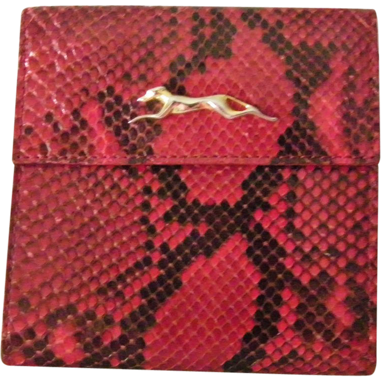 Vintage Trussardi Italian Red Snakeskin Wallet mint