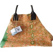 Huge KARMA LIVING Boho Chic Duffel Tote Carry On Purse New withTags
