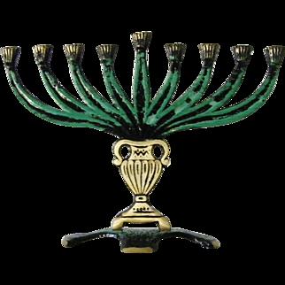 New vintage Israeli Hanukkah Menorah 9 branch
