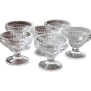 8 vintage Ribbed Sherbet Glasses all identical, mint