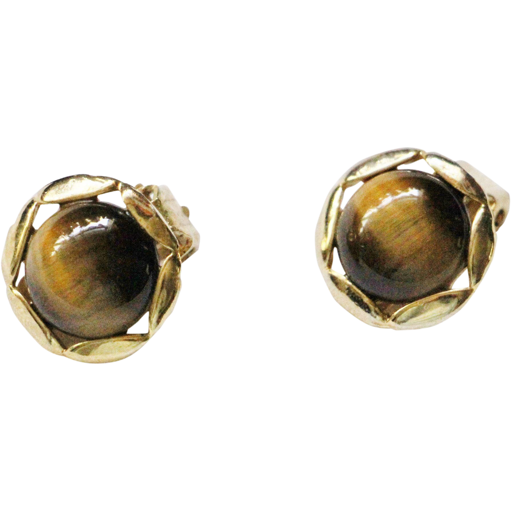 tiger eye clip earrings from kitchengarden on ruby