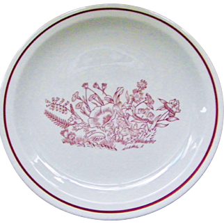 23 pieces Tepco China Restaurant Dinner and Salad Plates Red Floral Garden Flowers