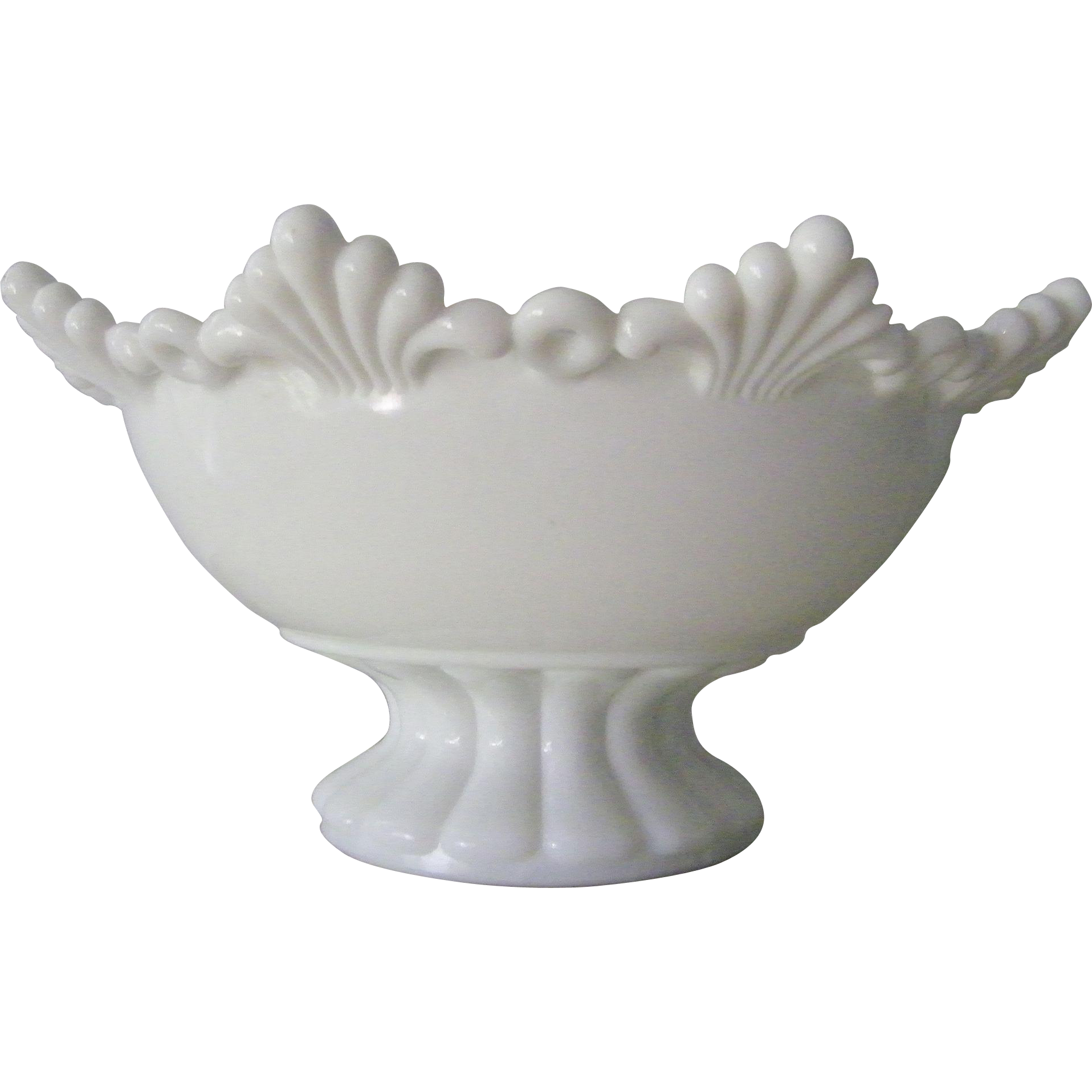 Westmoreland  Milk Glass Bowl Ring and Petal mint condition