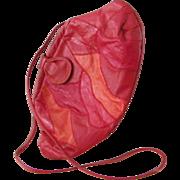 Adriano Lucci Multi Leather Italian Purse Cross Body Bag