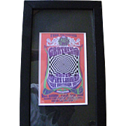 Signed and Framed poster by Bob Masse Grateful Dead Pender Auditorium Aug. 5, 1966