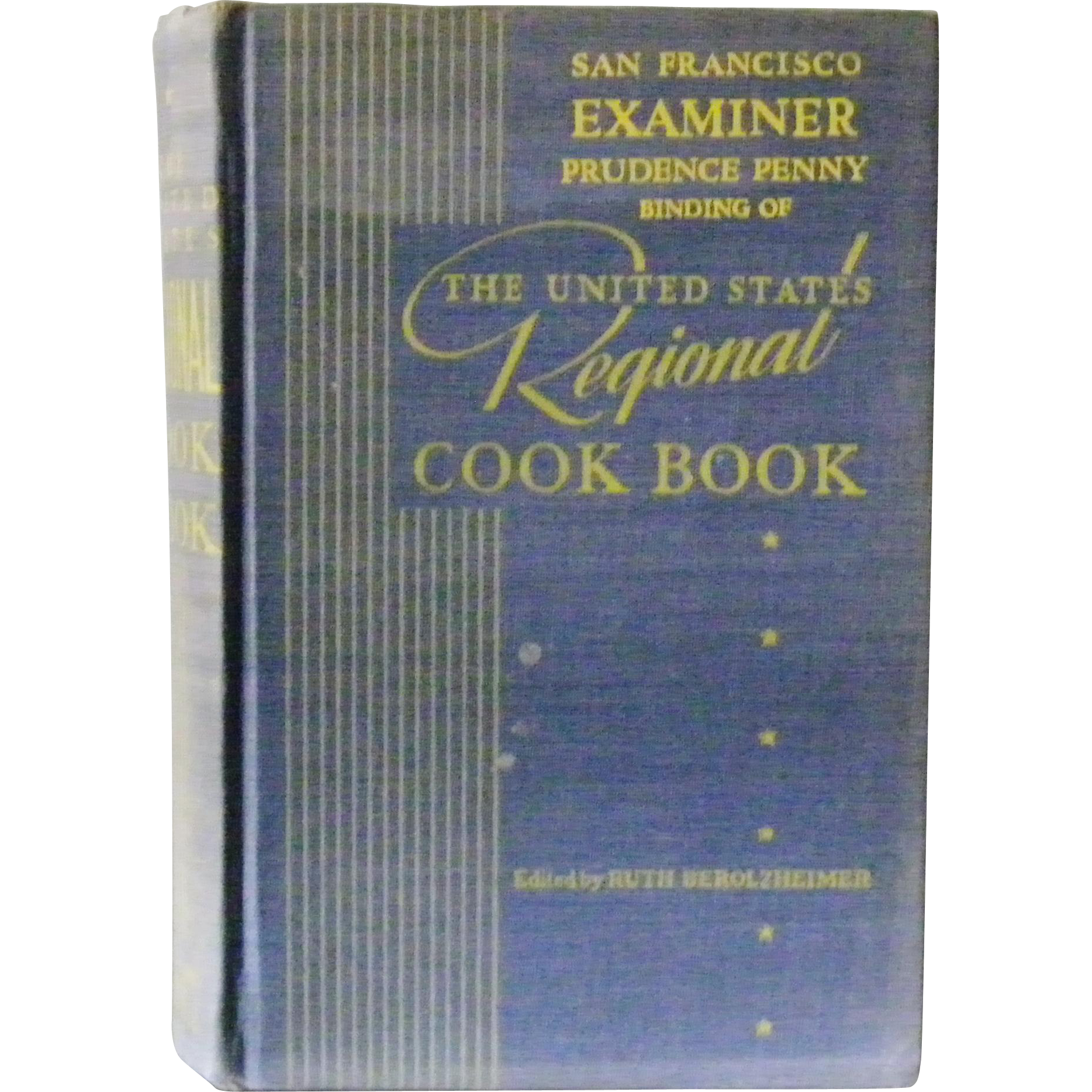 San Francisco Examiner Prudence Penny Binding of The Unites States Regional Cook Book 1951
