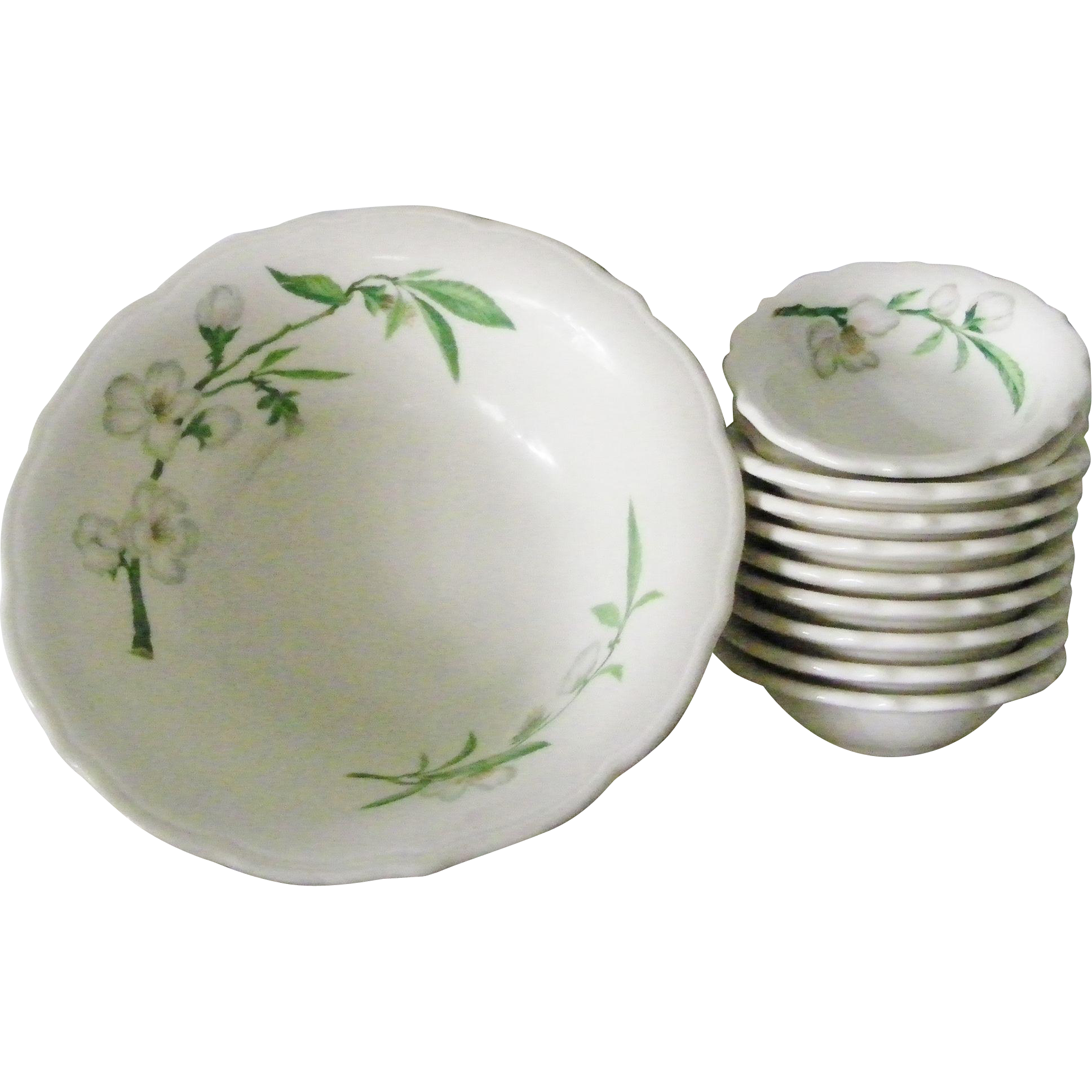 Syracuse China Apple Blossom Restaurant Ware Serving Bowl Berry Bowls 11 Pieces