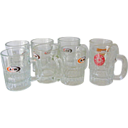 8 Child size A&W Root Beer Glass Mugs
