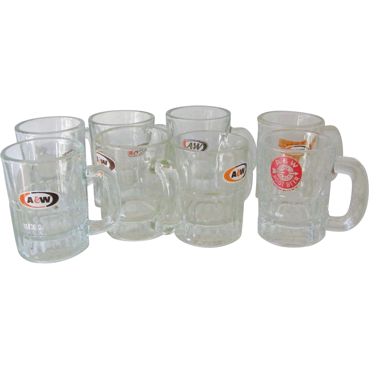 Ten Child size A&W Root Beer Glass Mugs