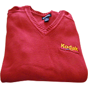 KODAK Lands End Mens Sweater L 42-44 New Vintage