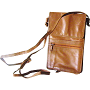 Cordovan leather cross body purse many compartments