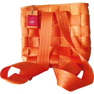 Harvey's Seat Belt Backpack Bag Purse Orange New w/out tags