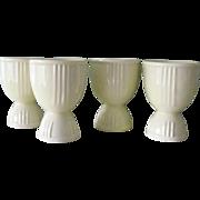 4 Hankscraft Ridged Egg Cups  1939