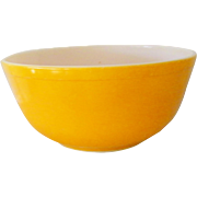 Bright Yellow Orange Pyrex Bowl 1.5 Quart