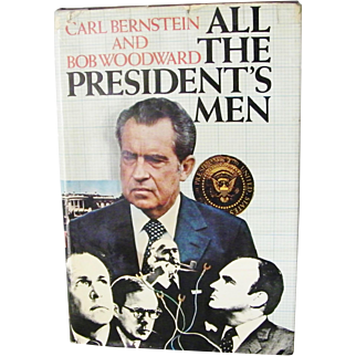 All the President's Men true 1st Edition  Very Good 1974