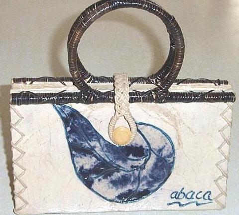 Organic Abaca Handbag Mint!